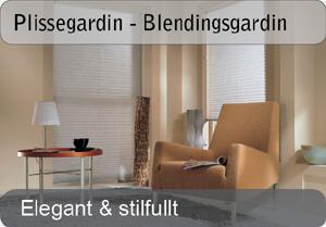 Plissegardin - Blendingsgardin
