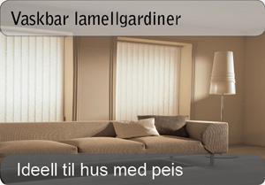 Lamellgardin - Vaskbar