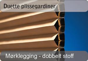 Duette plissegardin - Mørklegging