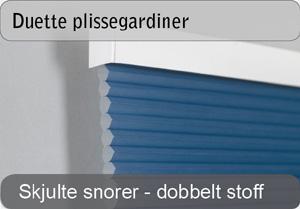 Duette plissegardiner - Dobbelt lag stoff