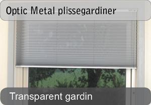 Optic Metal plissegardiner - Transparent
